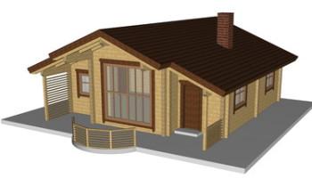 Masivna lesena hiša Andrea