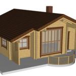Masivna lesena hiša Andrea 3