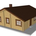 Masivna lesena hiša Andrea 4