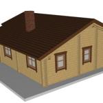 Masivna lesena hiša Andrea 5