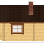 Masivna lesena hiša Andrea 8