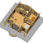 Masivna lesena hiša Andrea 10