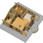 Masivna lesena hiša Andrea 11
