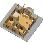 Masivna lesena hiša Andrea 12