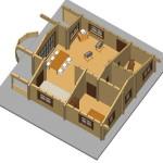 Masivna lesena hiša Andrea 13