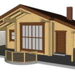 Masivna lesena hiša Andrea 14
