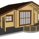 Masivna lesena hiša Andrea 15