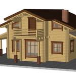 Masivna lesena hiša Anina 1