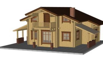 Masivna lesena hiša Anina