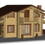 Masivna lesena hiša Anina 3
