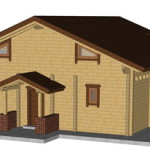Masivna lesena hiša Anina 4