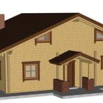 Masivna lesena hiša Anina 5