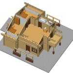 Masivna lesena hiša Anina 10