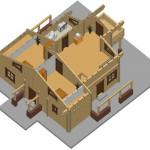 Masivna lesena hiša Anina 11