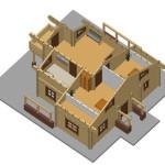 Masivna lesena hiša Anina 12