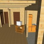Masivna lesena hiša Anina 17