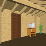 Masivna lesena hiša Anina 18