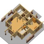 Masivna lesena hiša Anina 19