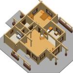 Masivna lesena hiša Anina 20