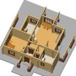 Masivna lesena hiša Anina 21