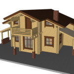 Masivna lesena hiša Anina 22