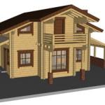 Masivna lesena hiša Anina 23