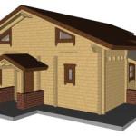 Masivna lesena hiša Anina 24