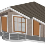 Masivna lesena hiša Barbara 1
