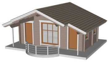 Masivna lesena hiša Barbara