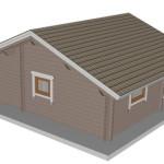 Masivna lesena hiša Barbara 4