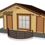 Masivna lesena hiša Barbara 6