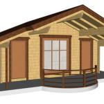 Masivna lesena hiša Barbara 7