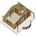 Masivna lesena hiša Barbara 8
