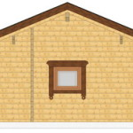 Masivna lesena hiša Barbara 12