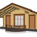 Masivna lesena hiša Barbara 15