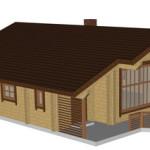 Masivna lesena hiša Casandra 1