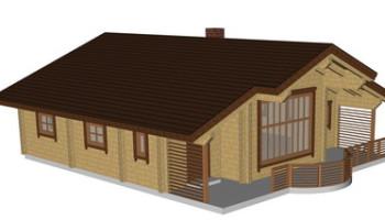Masivna lesena hiša Casandra