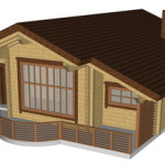 Masivna lesena hiša Casandra 3