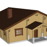 Masivna lesena hiša Casandra 4