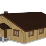 Masivna lesena hiša Casandra 5