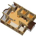 Masivna lesena hiša Casandra 10