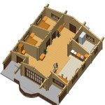 Masivna lesena hiša Casandra 11