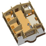 Masivna lesena hiša Casandra 12