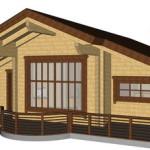 Masivna lesena hiša Casandra 13