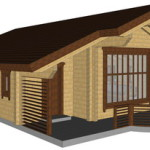 Masivna lesena hiša Casandra 14