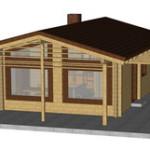 Masivna lesena hiša Paula 1