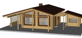 Masivna lesena hiša Paula
