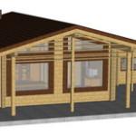 Masivna lesena hiša Paula 3