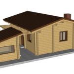 Masivna lesena hiša Paula 5