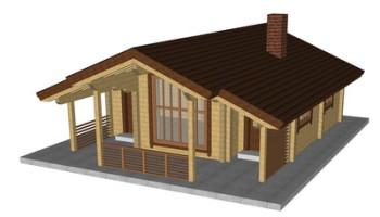 Masivna lesena hiša Petra